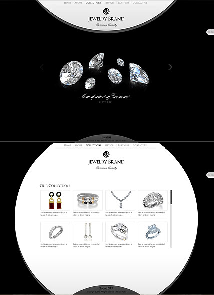 Jewelry Brand HTML5 template ID:300111549