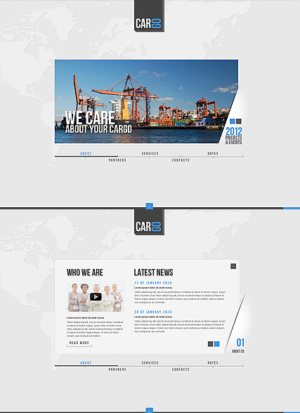 Cargo Transportation - HTML5 template ID: 300111566 from bootstrap ...
