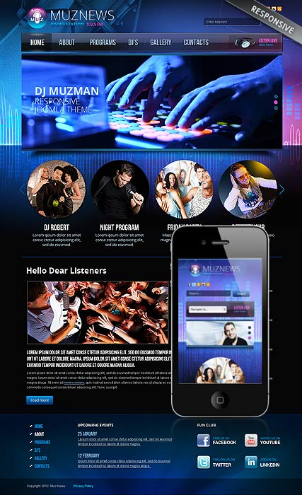 Description Radio Station Is A Joomla Website Template