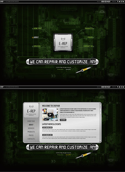 Electronic repair HTML5 template ID:300111594