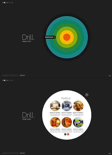 Circle Design HTML5 template ID:300111600