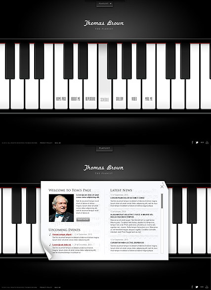 The Pianist - HTML5 template ID: 300111608 from bootstrap