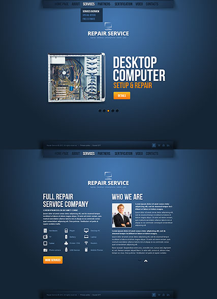repair service html5 template id300111614