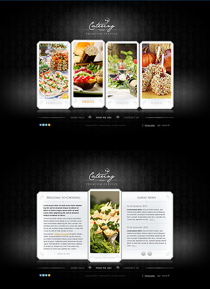 The Catering - HTML5 template ID: 300111621 from bootstrap-template.com