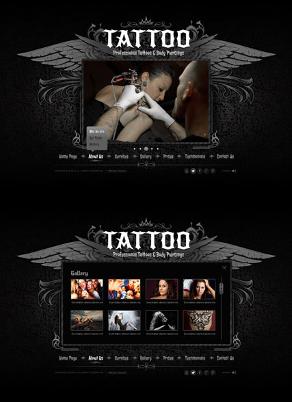 Tattoo Html5 Template Id 300111630 From Bootstrap