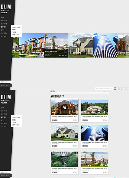Realestate Agency HTML5 template ID:300111640