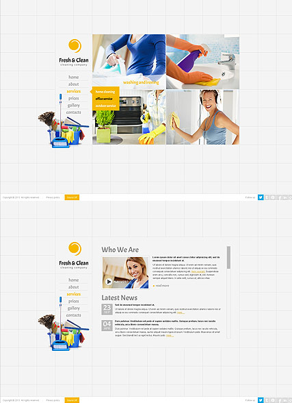 Cleaning company HTML5 template ID:300111641