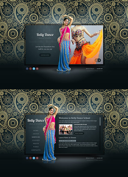 Belly Dance HTML5 template ID:300111650