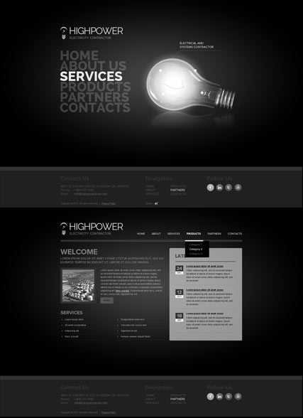 Electricity Contractor HTML5 template ID:300111664