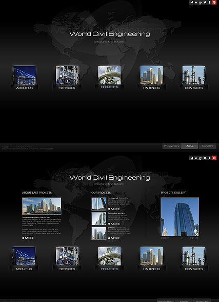 Civil Engineering HTML5 template ID:300111665