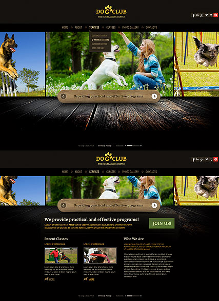 Dog Club HTML5 template ID:300111678