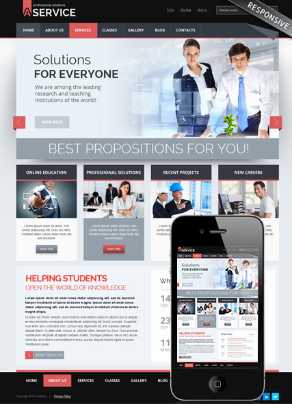 Professional solution v3.0 Joomla template ID:300111685