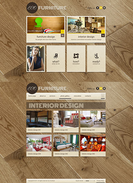 Interior Furniture HTML5 template ID:300111693