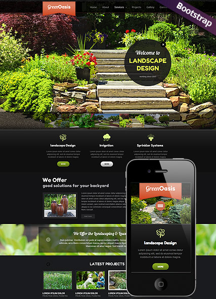 landscape design website templates free