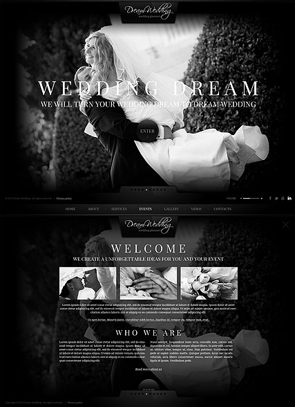 Wedding Planner HTML5 template ID:300111709