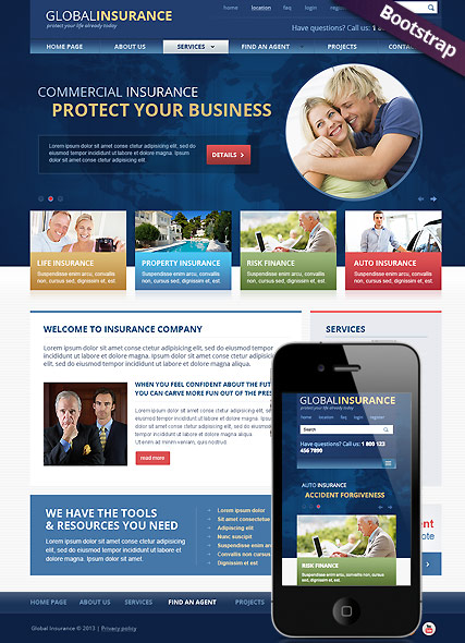 Insurance - Bootstrap template ID: 300111713 from bootstrap ...