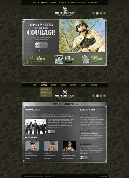 Military Unit HTML5 template ID:300111720