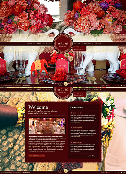 Indian Wedding HTML5 template ID:300111725