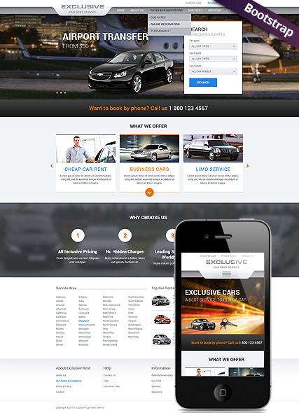 rent a car bootstrap template id 300111767 from bootstrap. Black Bedroom Furniture Sets. Home Design Ideas