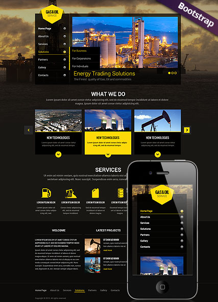 Gas and Oil Bootstrap template ID:300111775