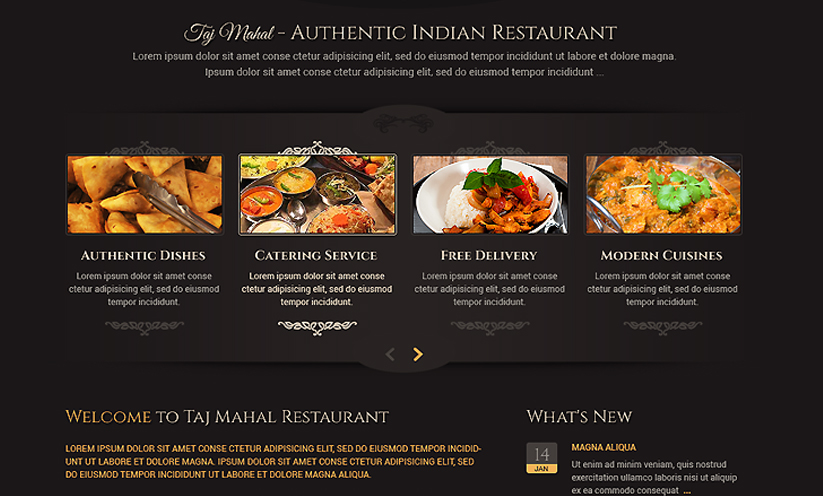 Indian restaurant - Wordpress template ID: 300111813 from bootstrap ...