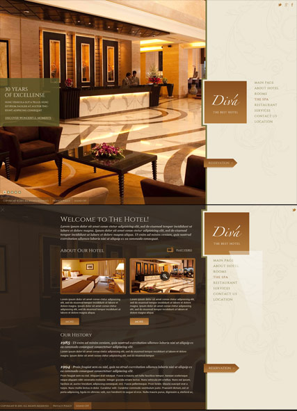 Hotel HTML5 template ID:300111814