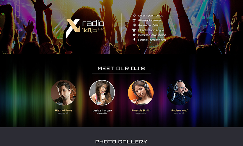 Radio Station Bootstrap template ID:300111827 Slide 2
