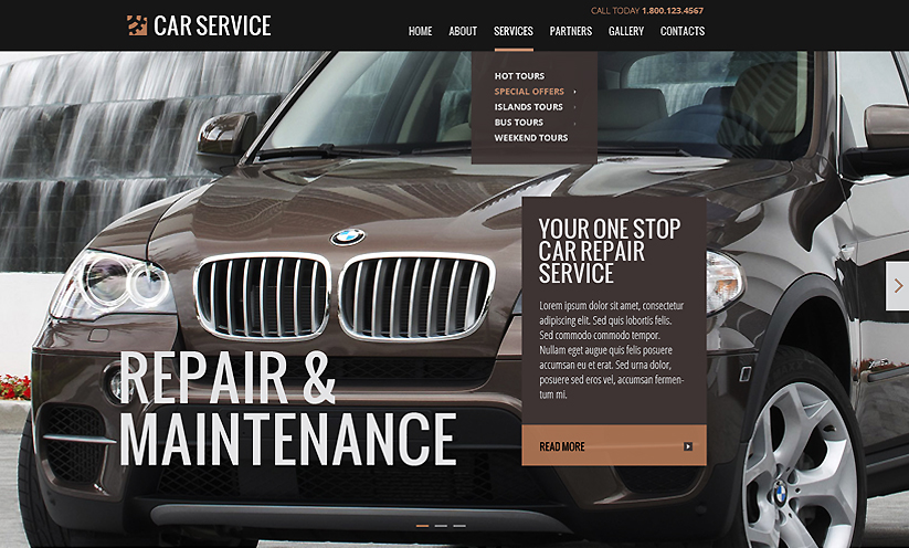 Car service Bootstrap template ID:300111838