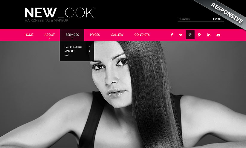 Hairdressing Bootstrap template ID:300111850