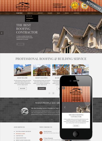 roofing wordpress template id300111853