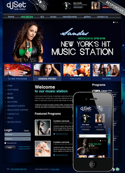 Radio Station v3 Joomla template ID:300111859