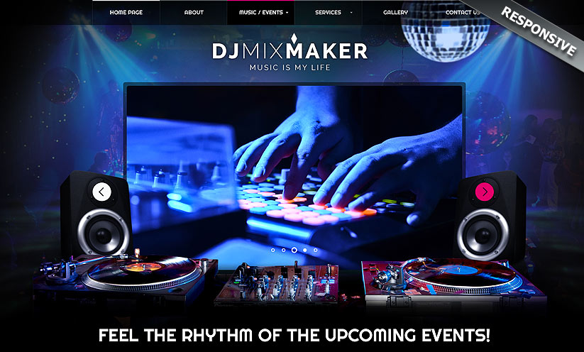 DJ Music Bootstrap Template ID From Bootstraptemplatecom - Dj website templates