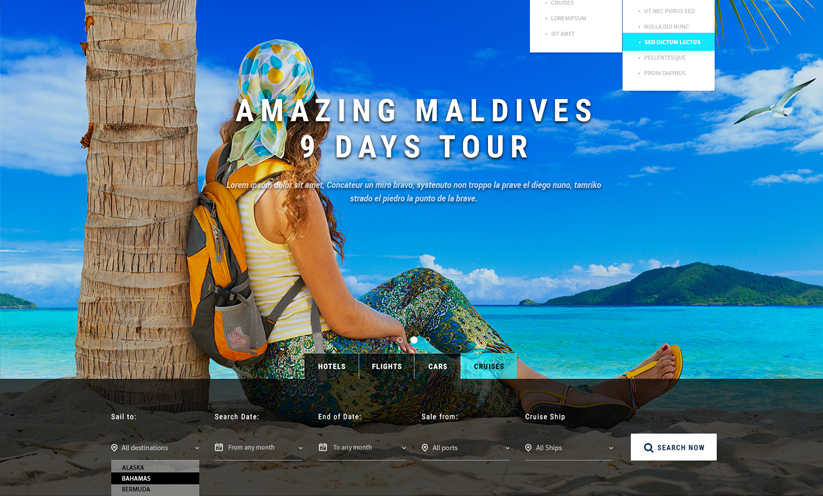 Travel Bootstrap template ID:300111895 Slide 1