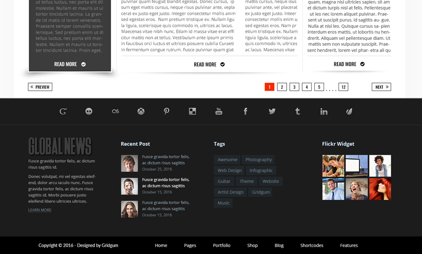 GlobalNews Bootstrap template ID:300111905 Slide 2
