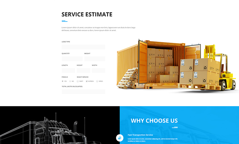Transportation Bootstrap template ID:300111907 Slide 1