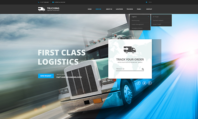 Transportation Bootstrap template ID:300111907