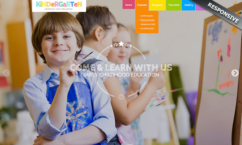 Preschool Theme Wordpress template ID:300111913