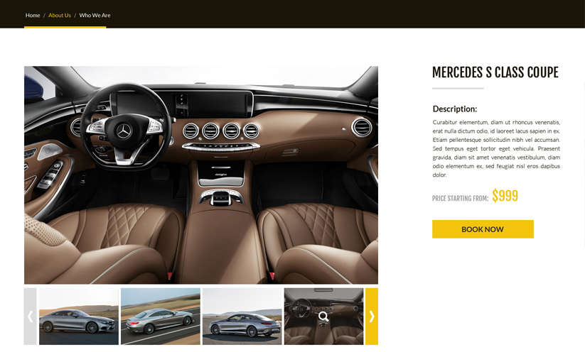 Rent a car Bootstrap template ID:300111914 Slide 2