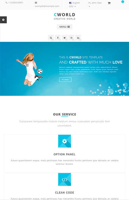 CWorld - Multi-Purpose Bootstrap template ID:300111915
