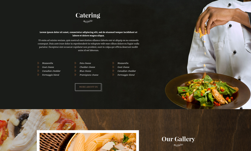 Italian Restaurant Wordpress Template ID From Bootstrap - Restaurant template wordpress