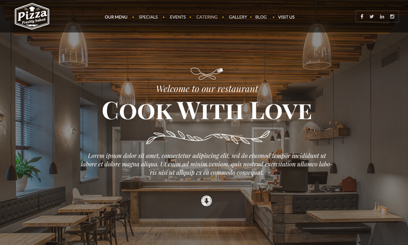 Italian Restaurant Wordpress template ID:300111921
