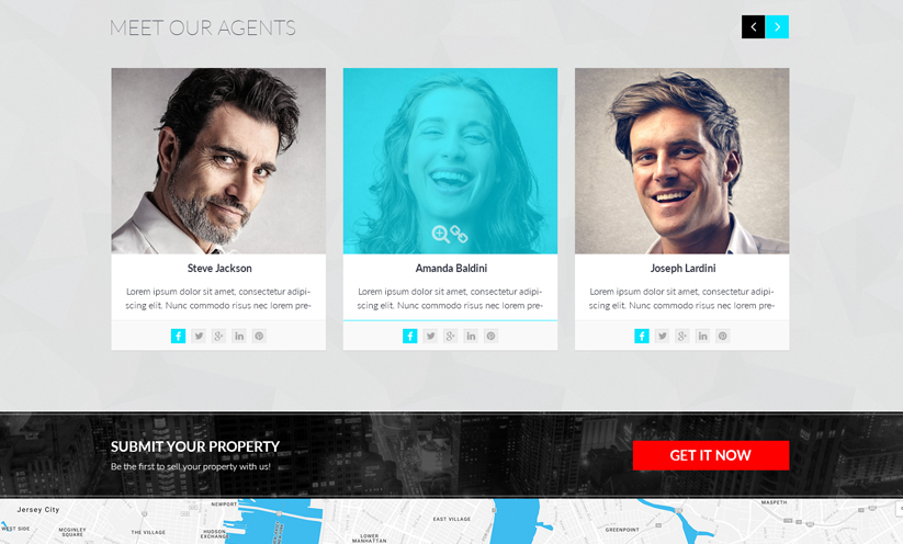 RealEstate Bootstrap template ID:300111924 Slide 2