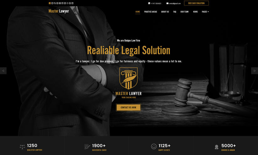 Lawyer Bootstrap template ID:300111925