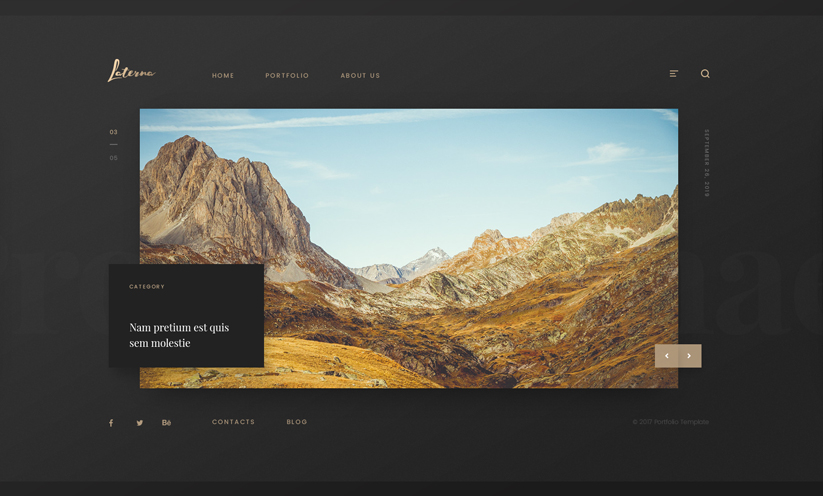Photographer Bootstrap template ID:300111927 Slide 1