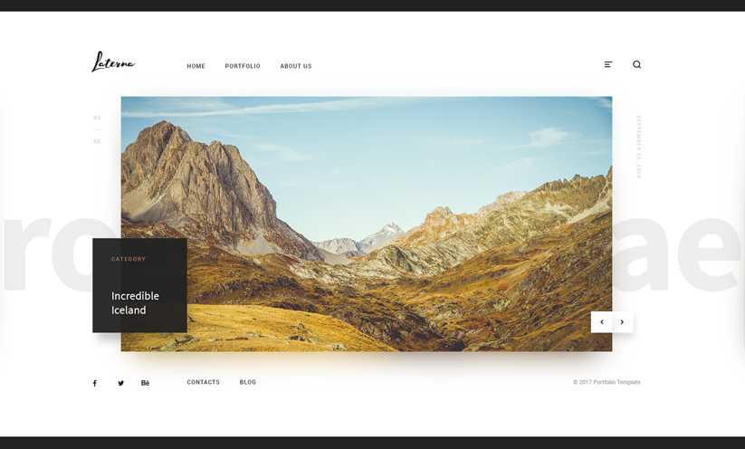 Photographer Bootstrap template ID:300111927