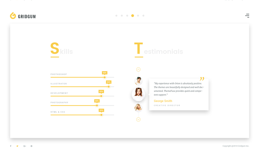 Freelancer Bootstrap template ID:300111933 Slide 2