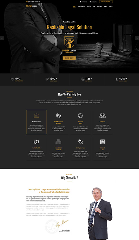 Master Lawyer Wordpress template ID:300111934