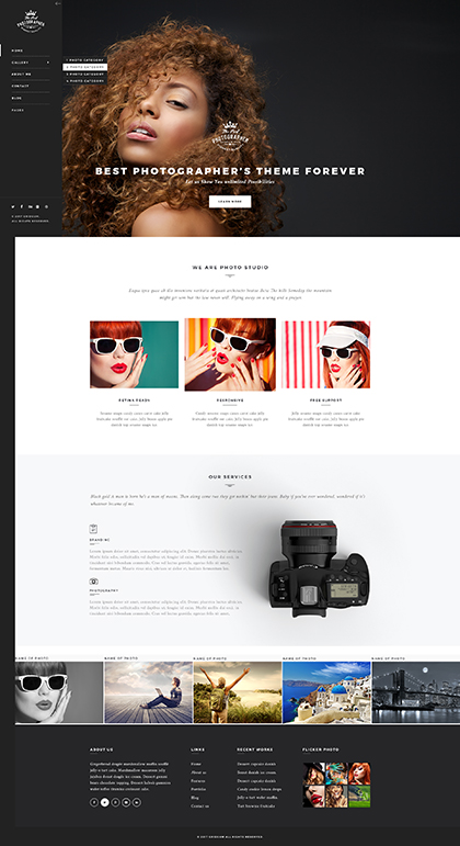 Photographer Bootstrap template ID:300111935