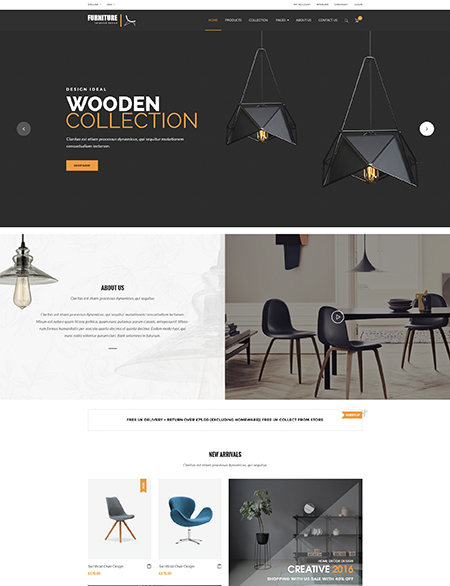 eShop Woocommerce Wordpress template ID:300111941