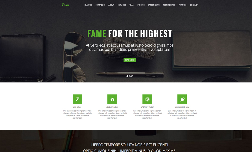 Advanced Bootstrap HTML Template